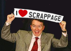 Scrappage and Emperor Mandelson's new clothes